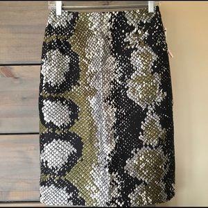 Snake print Prada skirt